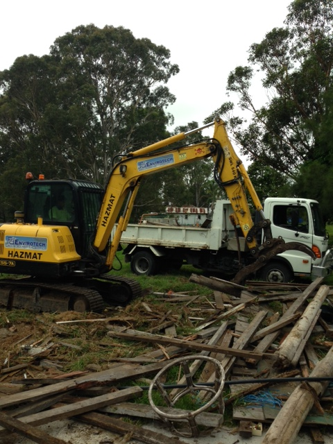 Excavator Participating In Demolition