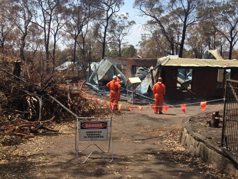 Asbestos Removal Following Bush Fire
