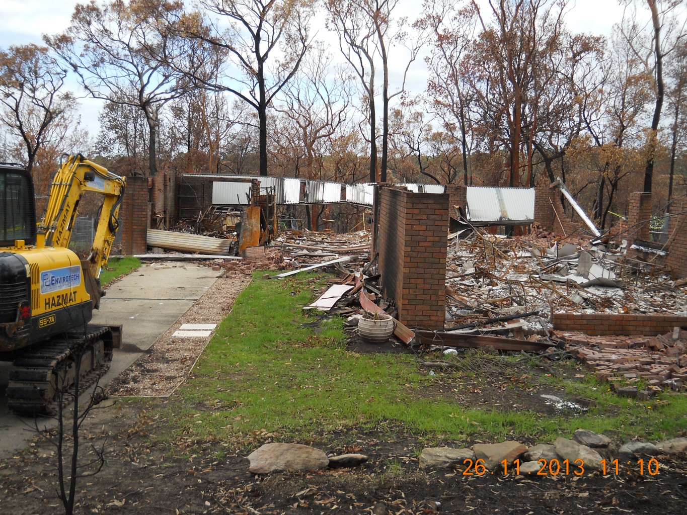 Fire Damaged House Excavation, Demolition And Removal